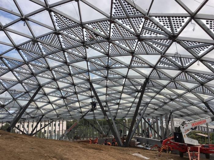 Под «Стеклянной корой» может поместиться футбольный стадион