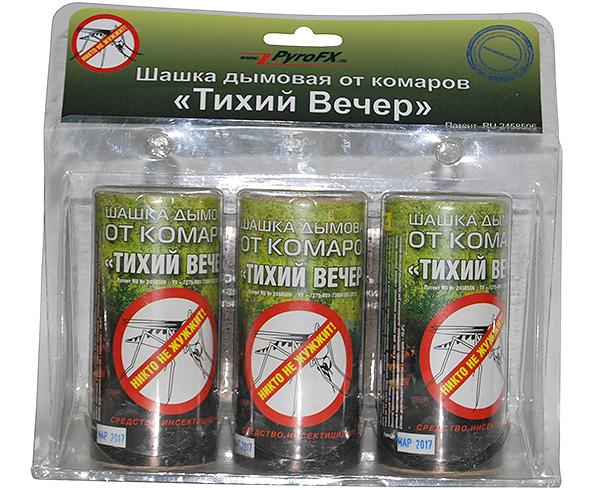 Инсектицидная дымовая шашка Тихий Вечер эффективна не только от комаров, но и от клопов и других домашних насекомых.